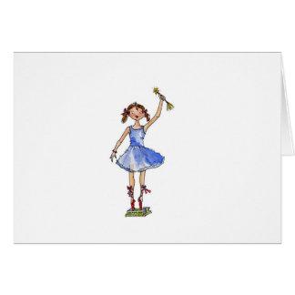 Princesa del ballet tarjeta de felicitación
