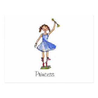 Princesa del ballet tarjeta postal