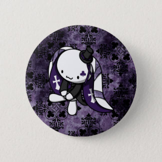 Princesa del conejo del blanco de los clubs chapa redonda de 5 cm