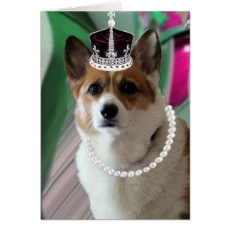 princesa del corgi tarjeta de felicitación