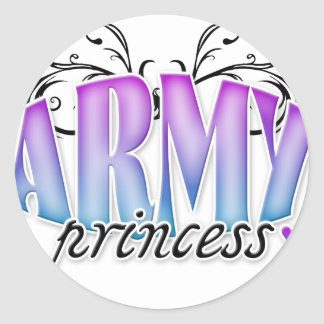 Princesa del ejército pegatina redonda