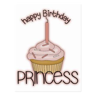Princesa del feliz cumpleaños postal