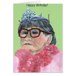 princesa del feliz cumpleaños tarjeta de felicitación