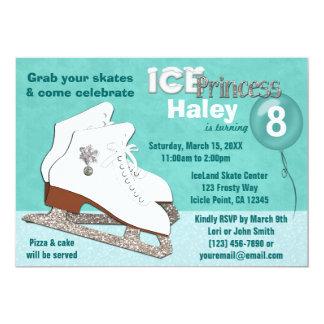 Princesa del hielo de la AGUAMARINA de la Invitación 12,7 X 17,8 Cm