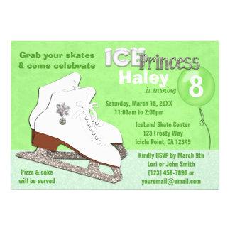 Princesa del hielo del VERDE de la invitación del