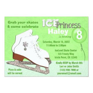 Princesa del hielo del VERDE de la invitación del Invitación 12,7 X 17,8 Cm
