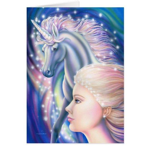 Princesa del unicornio tarjetas