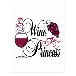 Princesa del vino postal