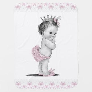 Princesa del vintage mantas de bebé