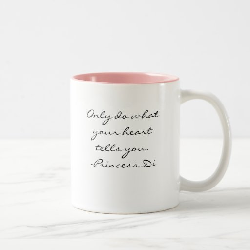 Princesa Di Quote Mug Taza De Café