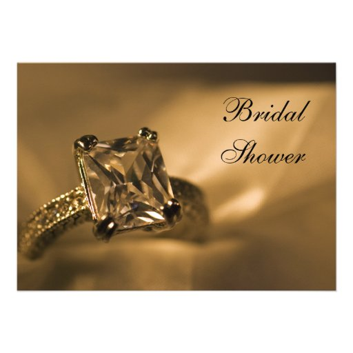 Princesa Diamond Bridal Shower Invitation Invitacion Personal