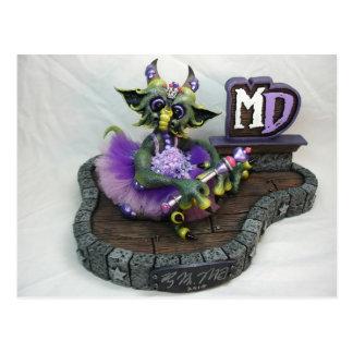 Princesa Dragon Postcard del MD Postal