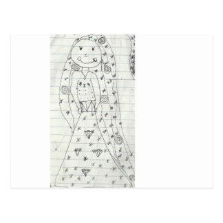 Princesa Drawing Tarjeta Postal