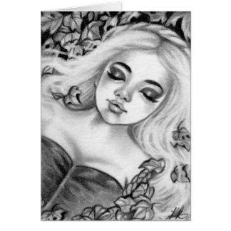 Princesa durmiente Fairytale Fantasy Card Tarjeta De Felicitación