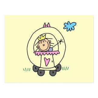 Princesa en carro postal