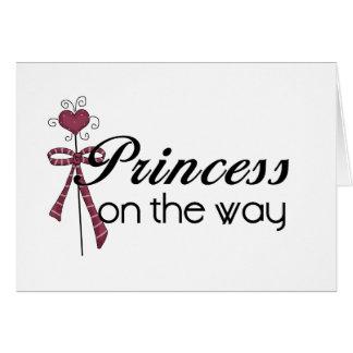 Princesa en la manera tarjeta de felicitación
