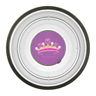 Princesa estropeada Pet Bowl - pequeño Cuenco Para Mascotas