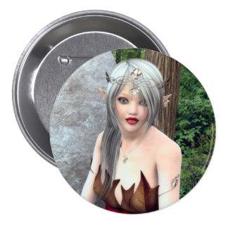 Princesa Fantasy Button del arbolado Chapa Redonda 7 Cm