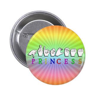 PRINCESA FINGERSPELLED ASL NAME PIN