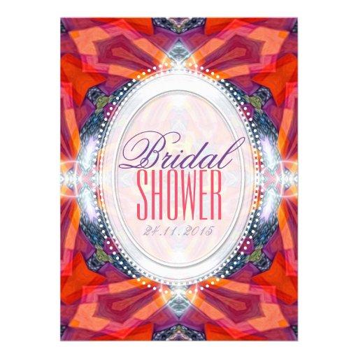 Princesa geométrica Bridal Shower Invitation de Comunicados Personales