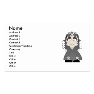 Princesa gótica triste plantillas de tarjeta de negocio