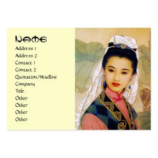Princesa hermosa joven china fresca Guo Jing Plantilla De Tarjeta De Visita