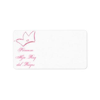 Princesa: Hija del Rey de Reyes Etiquetas De Dirección