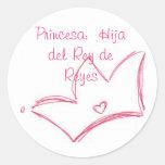Princesa:  Hija del Rey de Reyes Etiquetas Redondas
