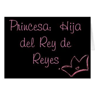 Princesa:  Hija del Rey de Reyes Felicitaciones