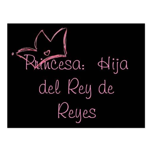 Princesa:  Hija del Rey de Reyes Tarjetas Postales