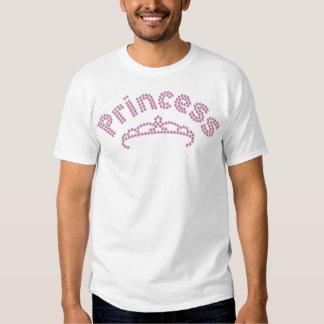 Princesa impresa Tiara del diamante artificial Camisas