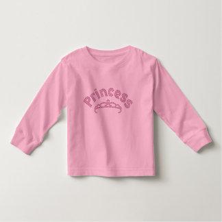 Princesa impresa Tiara del diamante artificial Camiseta De Bebé