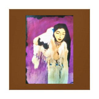 Princesa india Canvas del nativo americano Impresión En Lona Estirada