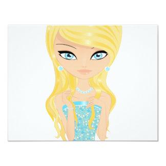 Princesa Invitación 10,8 X 13,9 Cm