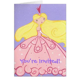 Princesa Invitation Tarjeta Pequeña