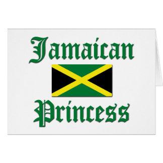 Princesa jamaicana tarjeta de felicitación