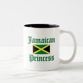 Princesa jamaicana taza de dos tonos