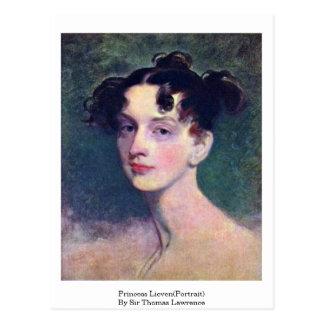 Princesa Lieven (retrato) por sir Thomas Lorenzo Postal