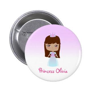 Princesa linda Birthday Chapa Redonda 5 Cm