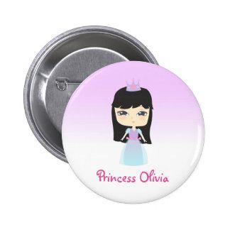 Princesa linda Birthday Chapa Redonda De 5 Cm