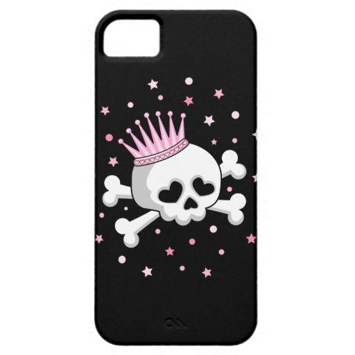 Princesa linda Skull iPhone 5 Case-Mate Fundas