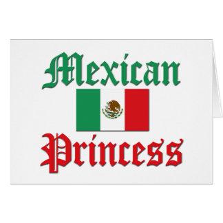 Princesa mexicana tarjeta