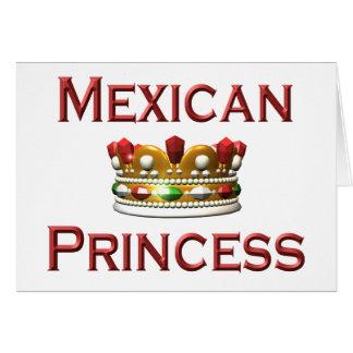 Princesa mexicana tarjeta de felicitación