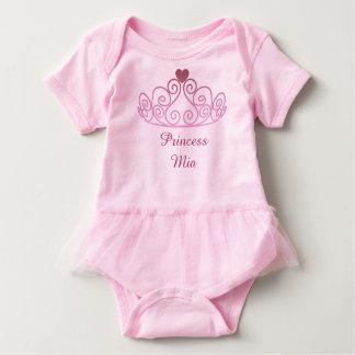 Princesa Mia, pica el tutú, añade el nombre de su Body Para Bebé