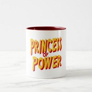 Princesa Of Poder-Taza Taza Dos Tonos