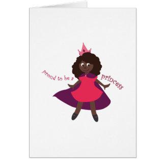 Princesa orgullosa tarjetas