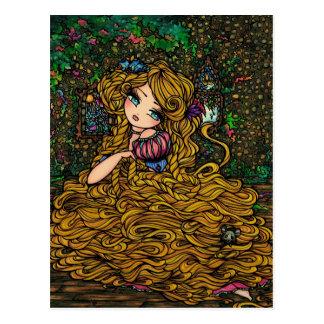 Princesa Original Art Postcard del guión de Postal