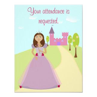Princesa Party Invitation 4,5 x5.5 Invitación 10,8 X 13,9 Cm