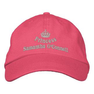 Princesa personalizada con la corona real gorra bordada