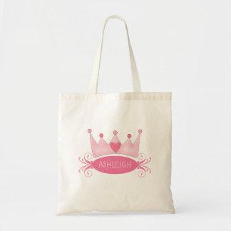 Princesa personalizada Tiara Bag Bolsa Tela Barata